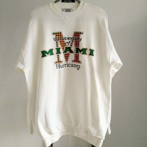 Vintage University of Miami Hurricanes Sweater L